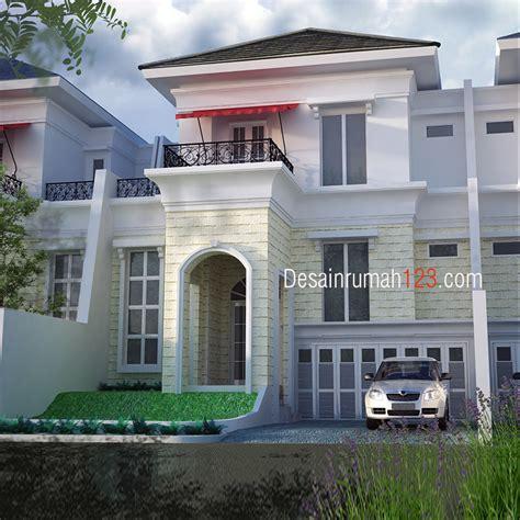 desain rumah klasik  lantai  lahan     dr