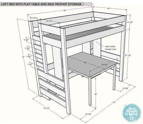 Loft Bed Plans by Diy Loft Bed With Desk And Storage