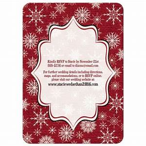 Wedding invitation rustic red burlap deer snowflakes for Wedding invitations red deer