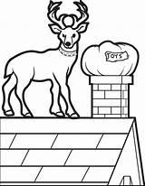 Reindeer sketch template