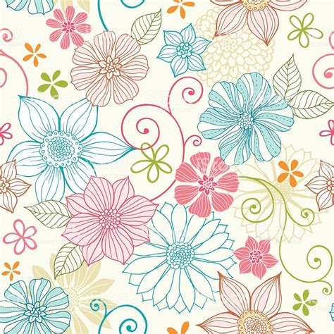 seamless pastel floral pattern stock vector art