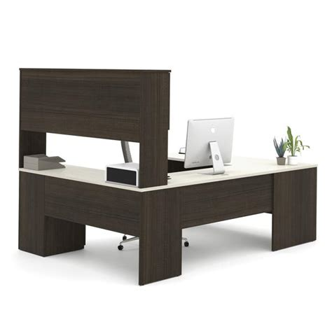 Best Place To Buy Computer Desk chocolate white modern u shaped office desk