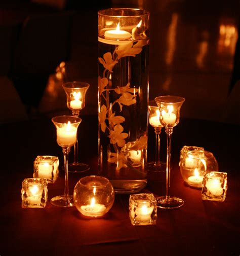 wedding reception decoration ideas the romanticism of wedding candle centerpieces cherry