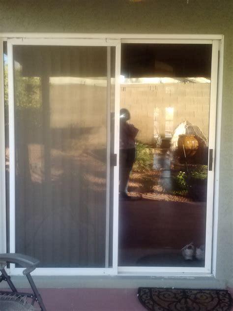 before sliding glass door replacement windows