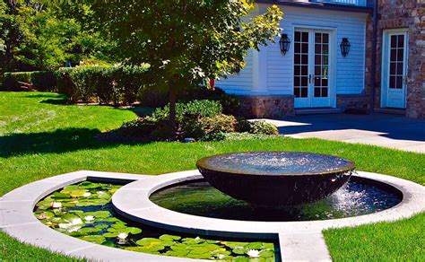 landscape design water fountains backyard design ideas
