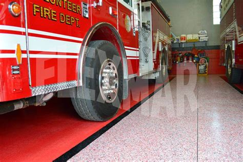 Application Focus Fire Station Floor  Flexmar Polyaspartic