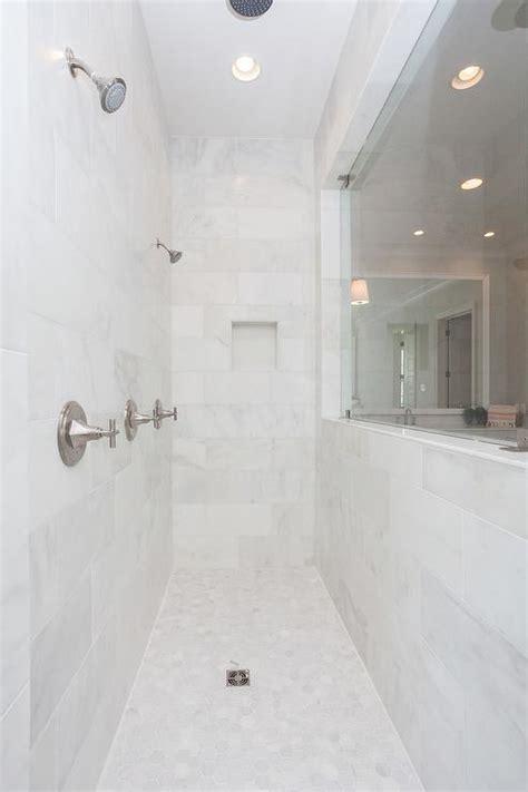 white bathroom with platinum gray roman shade