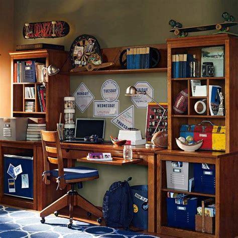 bureau chambre gar輟n chambre garçon 10 ans idées comment la décorer
