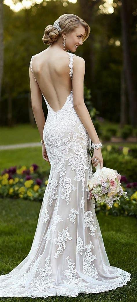 robe longue dos nu mariage robe de mariage civil en 60 images tendances 2016 2017