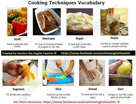 cuisine techniques 17 best images about cooking vocabulary on