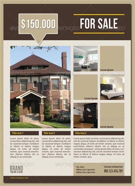 Real Estate Flyer Template Free Microsoft Real Estate Flyer Templates Free Apps