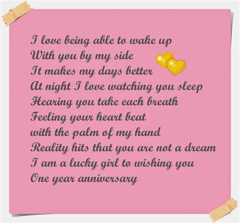 adorable happy anniversary poems    partner