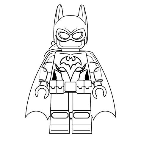 Kleurplaat Batgirl leuk voor batgirl