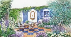 Fenster Aus Glasbausteinen : sitzecke mediteran oder mit kletterpflanzen gestalten mein sch ner garten ~ Sanjose-hotels-ca.com Haus und Dekorationen