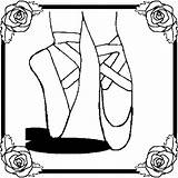 Coloring Ballet Ballerina Pages Shoes Printable Slippers Dance Princess Cartoon Colour Dancers Sheets Cliparts Shoe Moves Drawing Slipper Dancer Dancing sketch template