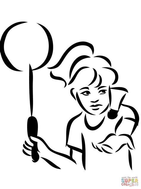 Kleurplaat Badminton by Badminton Serve Coloring Page Free Printable Coloring Pages