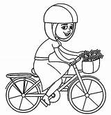 Coloring Bicycle Bike Riding Bicyclette Transports Coloriages Dessin Colorear Transportation Album Coloriage Printable Boys Basket Drawing Velo Transport Holly Kb sketch template