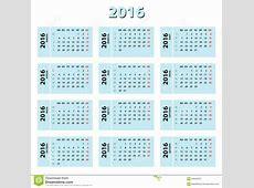 Calendario Con Numero De Semanas 2016 Calendar Template 2018