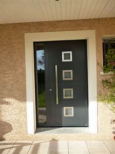 Porte d entree design atlubcom for Porte d entrée alu avec beton ciré pour salle de bain