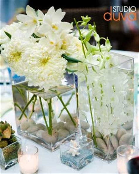 White Orchid Wedding Centerpiece Flower Photos