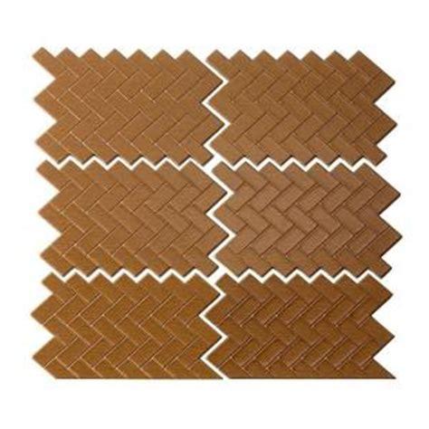 herringbone backsplash tile home depot aspect mini herringbone matted 4 in x 6 in metal