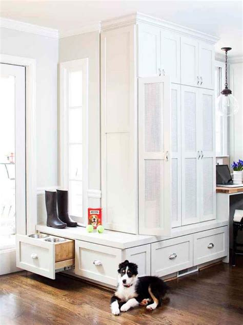 white kitchen  hidden pantry storage hgtv