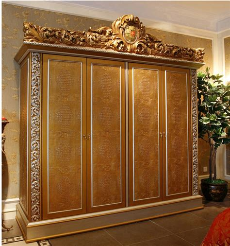Sofa Bed Full Size by Luxury French Rococo Style Golden Four Door Wardrobe