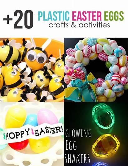 Easter Plastic Crafts Activities Egg Eggs Craft