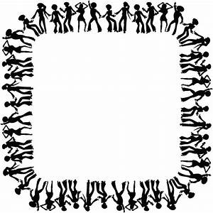Free Clipart of a square black and white border frame of ...