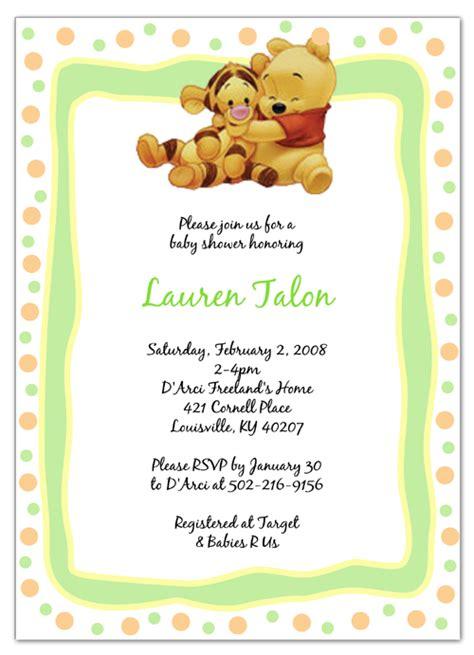 winnie  pooh shower invites winnie  pooh