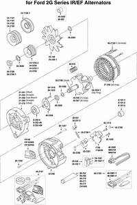 Ford Motorcraft Type 2g Series Alternator Exploded View