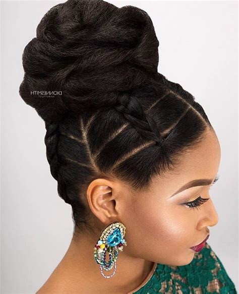 Black Updo Hairstyles by 15 Ideas Of Updo Hairstyles With Bangs For Black Hair