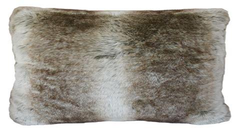 canapé 150 cm coussin rectangulaire en fourrure 30 x 50 cm gris
