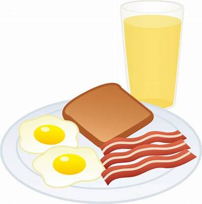Clip Juice Eggs Toast Breakfast Bacon Meal