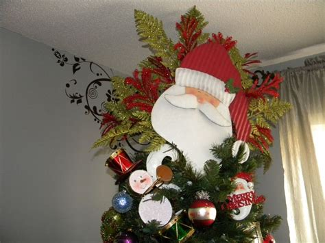 santa claus tree topper christmas pinterest
