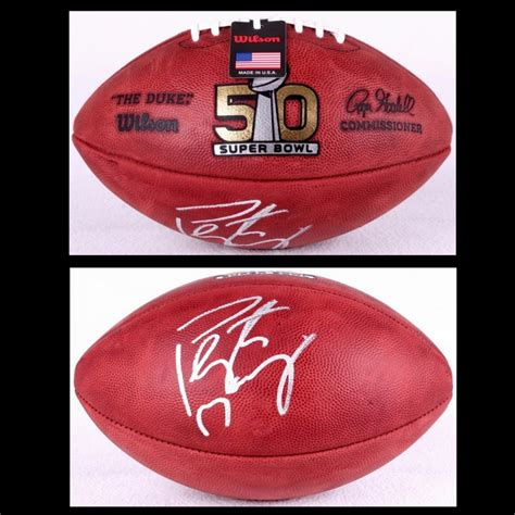 Peyton Manning Signed Super Bowl 50 Official Nfl Game Ball