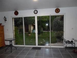 Baie Vitree A Galandage 2 Vantaux : baie vitr e galandage alu 4 vantaux petite maison bois ~ Edinachiropracticcenter.com Idées de Décoration