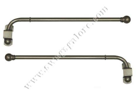 swing arm curtain rods finishing touch pewter view all