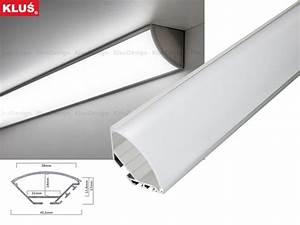 Led Profil Ecke : opal 200 cm led aluminium profil ecke rund 200 cm wei milchige abdeckung f r led streifen ~ Eleganceandgraceweddings.com Haus und Dekorationen