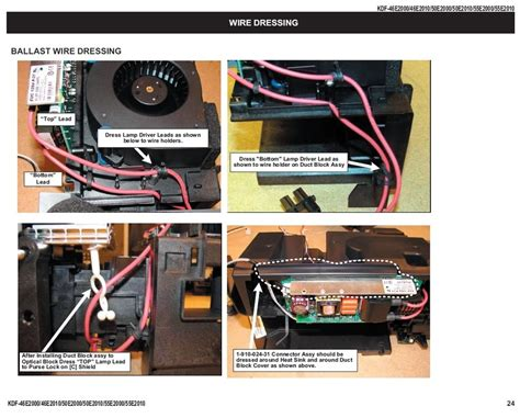sony kdf 50e2000 l ballast board diy forums