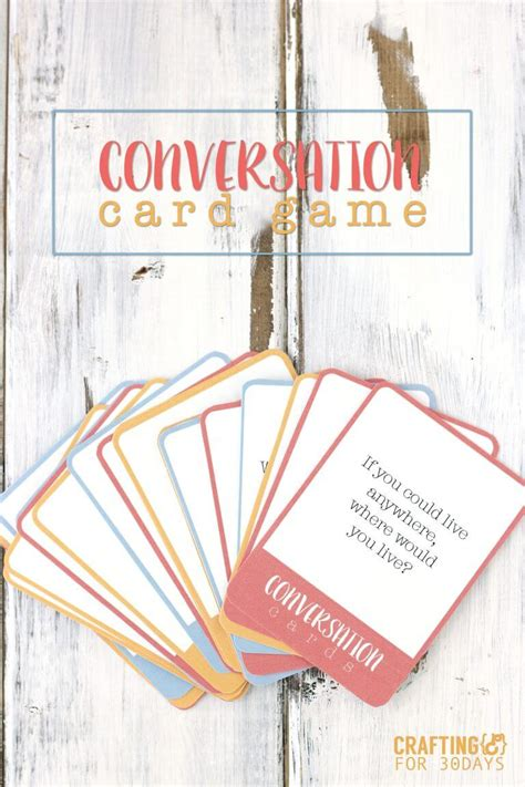 printable conversation questions card game