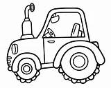 Tractor Coloring sketch template