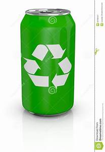Aluminum Can With Recycling Symbol Stock Illustration ...