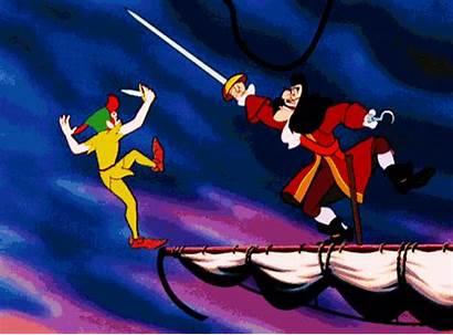 Hook Captain Fighting Pan Peter Disney Fight