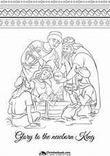Coloring Pages Christmas Festive Adults Christianbook sketch template
