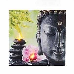 Toile Lumineuse Led : tableau zen lumineux led bouddha et orchid e achat vente tableau toile cdiscount ~ Teatrodelosmanantiales.com Idées de Décoration