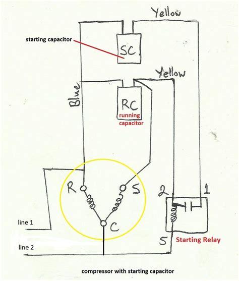 air compressor capacitor wiring diagram   call  ac repair man visit  blog