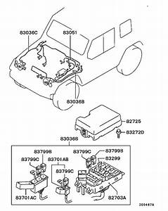 Wiring  U0026 Attaching Parts For 1999  2t Truck V16b