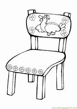 Chair Coloring Table Chairs Cartoon Getcoloringpages sketch template