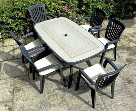 resin outdoor furniture imparts an aor of elegance and